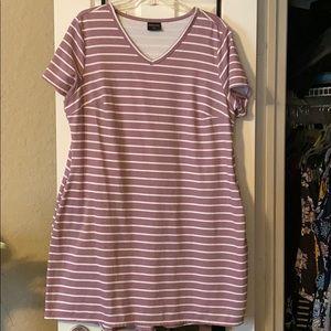 32° Cool Striped T-shirt Dress w/ Pockets